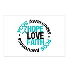 PCOS HopeLoveFaith Postcards (Package of 8)