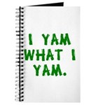 I Yam What I Yam Journal