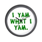I Yam What I Yam Wall Clock