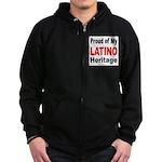 Proud Latino Heritage Zip Hoodie (dark)
