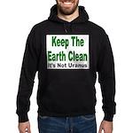 Keep the Earth Clean Hoodie (dark)