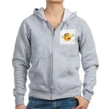 Goofy Emoticon Smiley Zip Hoodie
