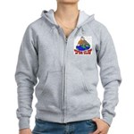 On Top of the World Cartoon Women's Zip Hoodie