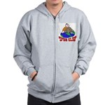 On Top of the World Cartoon Zip Hoodie