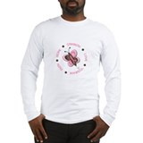 Hope Courage 1 Butterfly 2 PINK Long Sleeve T-Shir