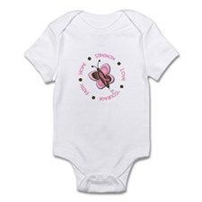 Hope Courage 1 Butterfly 2 PINK Infant Bodysuit