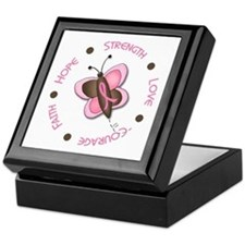 Hope Courage 1 Butterfly 2 PINK Keepsake Box