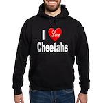 I Love Cheetahs for Cheetah L Hoodie (dark)