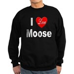 I Love Moose Sweatshirt (dark)