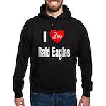 I Love Bald Eagles Hoodie (dark)