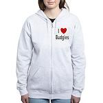 I Love Budgies Women's Zip Hoodie