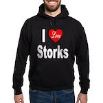 I Love Storks Hoodie (dark)