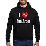 I Love Ann Arbor Michigan Hoodie (dark)