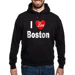 I Love Boston Hoodie (dark)
