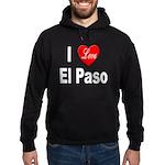 I Love El Paso Texas Hoodie (dark)