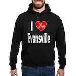 I Love Evansville Hoodie (dark)