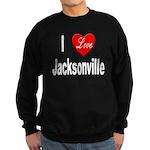 I Love Jacksonville Florida Sweatshirt (dark)