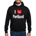 I Love Portland Hoodie (dark)