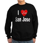 I Love San Jose California Sweatshirt (dark)