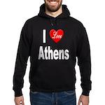 I Love Athens Greece Hoodie (dark)
