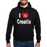 I Love Croatia Hoodie (dark)