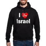 I Love Israel Hoodie (dark)