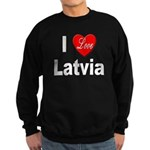 I Love Latvia Sweatshirt (dark)