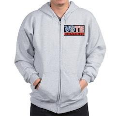 Vote Hillary Zip Hoodie