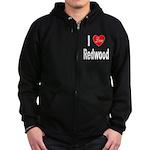 I Love Redwood Zip Hoodie (dark)