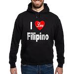 I Love Filipino Hoodie (dark)