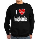 I Love Raspberries Sweatshirt (dark)
