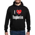 I Love Raspberries Hoodie (dark)