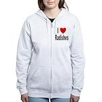 I Love Radishes Women's Zip Hoodie