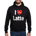 I Love Latte Hoodie (dark)