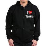 I Love Tequila Zip Hoodie (dark)