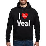 I Love Veal Hoodie (dark)