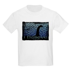 I Believe Nessie Lives Kids Light T-Shirt