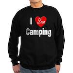 I Love Camping Sweatshirt (dark)