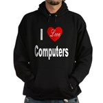 I Love Computers Hoodie (dark)