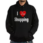 I Love Shopping Hoodie (dark)