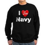 I Love Navy Sweatshirt (dark)