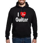 I Love Guitar Hoodie (dark)