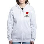 I Love Sam Brownback Women's Zip Hoodie