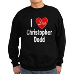 I Love Christopher Dodd Sweatshirt (dark)