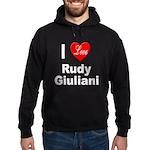 I Love Rudy Giuliani Hoodie (dark)