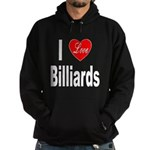 I Love Billiards Hoodie (dark)