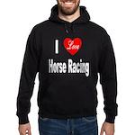 I Love Horse Racing Hoodie (dark)