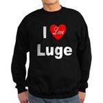I Love Luge Sweatshirt (dark)