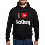 I Love Rock Climbing Hoodie (dark)