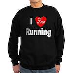 I Love Running Sweatshirt (dark)